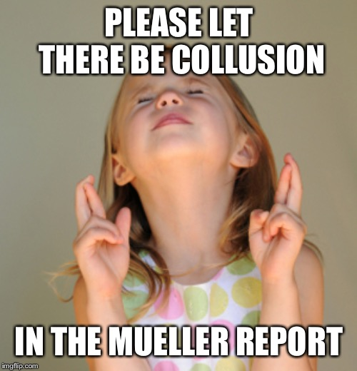 Hope So | PLEASE LET THERE BE COLLUSION IN THE MUELLER REPORT | image tagged in hope so | made w/ Imgflip meme maker