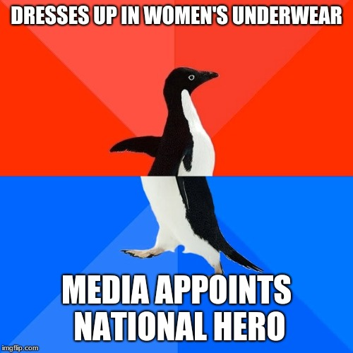 "Well a new ""hero"" was made 