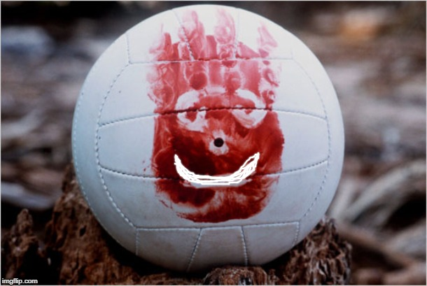 Wilson volleyball Castaway | image tagged in wilson volleyball castaway | made w/ Imgflip meme maker