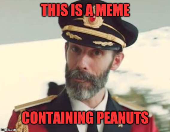 Captain Obvious | THIS IS A MEME CONTAINING PEANUTS | image tagged in captain obvious | made w/ Imgflip meme maker