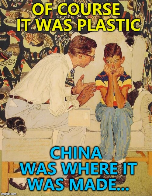 """It says 'China', but it's plastic..."" 