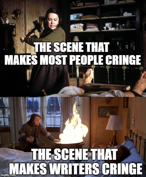 "What makes writers cringe in the movie, ""Misery"" 