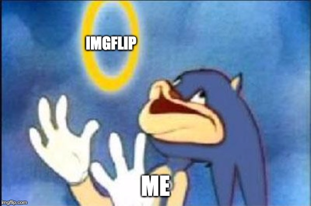 A great place to meme! | IMGFLIP ME | image tagged in sonic derp,punman21,imgflip unite,excellent,thanks | made w/ Imgflip meme maker