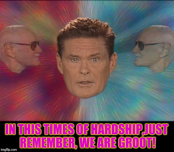 ARTICLE 13 PASSED | IN THIS TIMES OF HARDSHIP,JUST REMEMBER, WE ARE GROOT! | image tagged in guardians of the galaxy,david hasselhoff,stan lee,article 13,theresistance | made w/ Imgflip meme maker