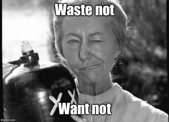 Granny Clampett | Waste not Want not | image tagged in granny clampett | made w/ Imgflip meme maker