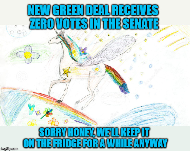 Reality is such a bummer | NEW GREEN DEAL RECEIVES ZERO VOTES IN THE SENATE SORRY HONEY, WE'LL KEEP IT ON THE FRIDGE FOR A WHILE ANYWAY | image tagged in aoc,alexandria ocasio-cortez,democrats,global warming | made w/ Imgflip meme maker