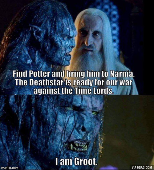 ...Strange... I don't recall this particular scene... | . | image tagged in harry potter,narnia,star wars,doctor who,funny,memes | made w/ Imgflip meme maker
