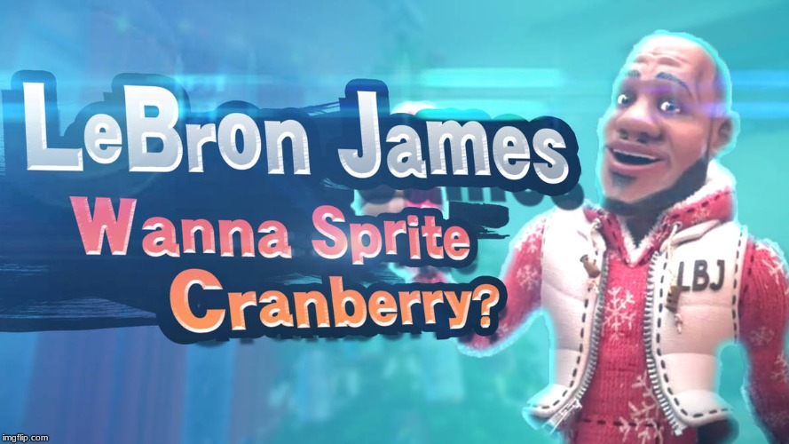image tagged in wanna sprite cranberry,super smash bros | made w/ Imgflip meme maker