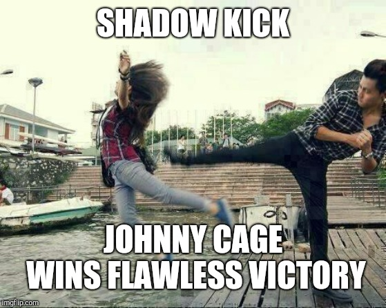 SHADOW KICK JOHNNY CAGE WINS FLAWLESS VICTORY | image tagged in said she liked pantera | made w/ Imgflip meme maker