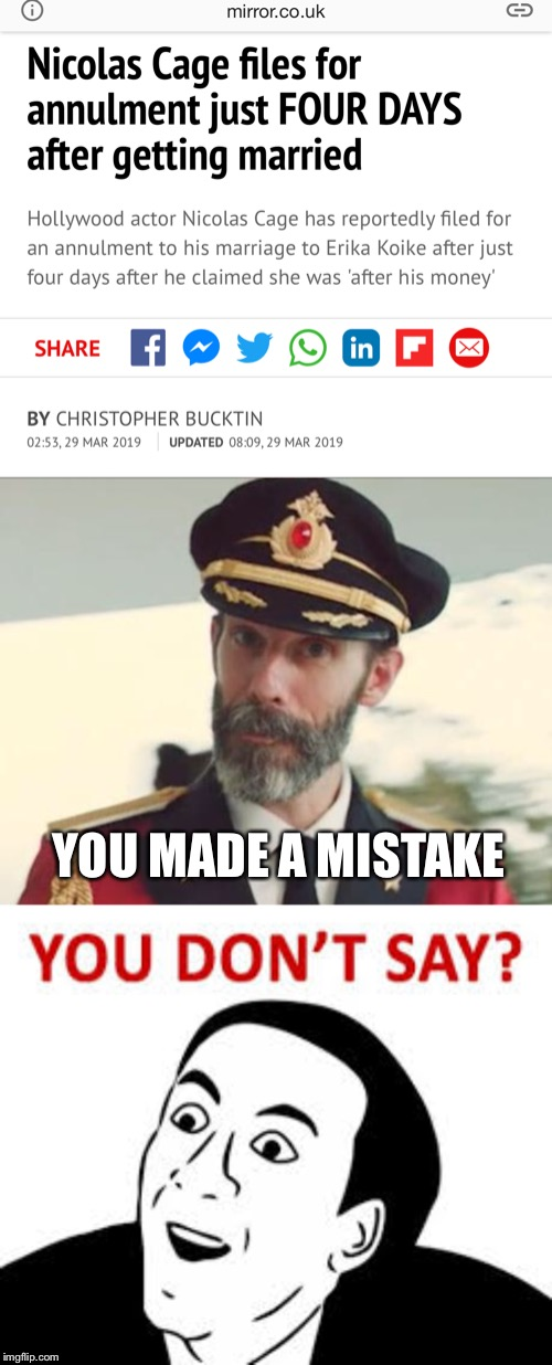 "And just like that ""You don't say"" got a little bit funnier  