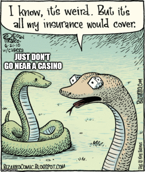 Vegas, Baby! | JUST DON'T GO NEAR A CASINO | image tagged in memes,snakes,dice,snake eyes | made w/ Imgflip meme maker