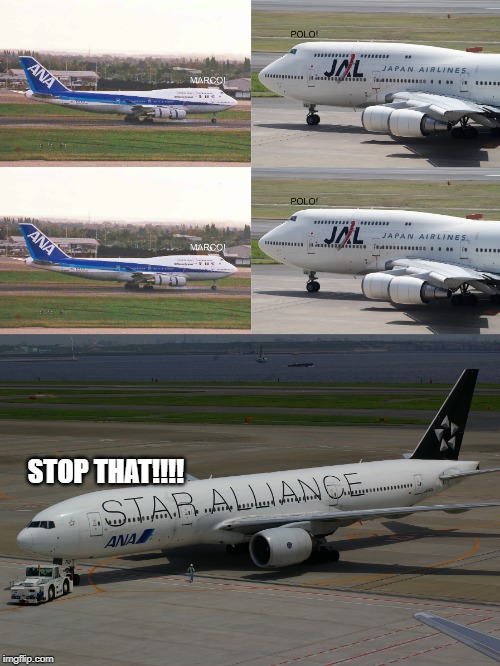 Popular pool game | STOP THAT!!!! | image tagged in polo,pool game,japan,aircraft,747 777 | made w/ Imgflip meme maker