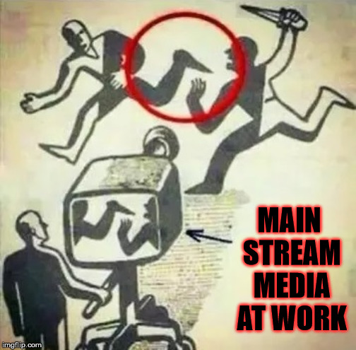 MSM Narrative, don't let biased media define us | MAIN STREAM MEDIA AT WORK | image tagged in msm narrative,memes,lies,one does not simply,but thats none of my business,biased media | made w/ Imgflip meme maker