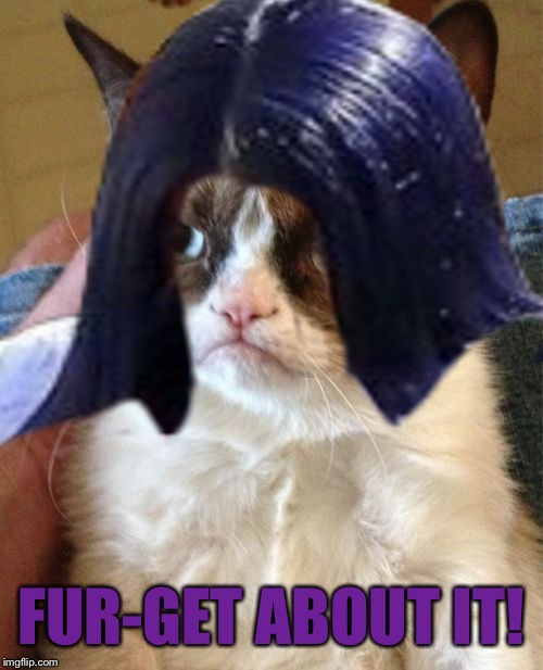 Grumpy Mima | FUR-GET ABOUT IT! | image tagged in grumpy mima | made w/ Imgflip meme maker