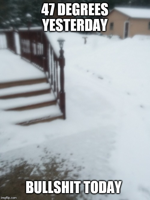 47 DEGREES YESTERDAY BULLSHIT TODAY | made w/ Imgflip meme maker