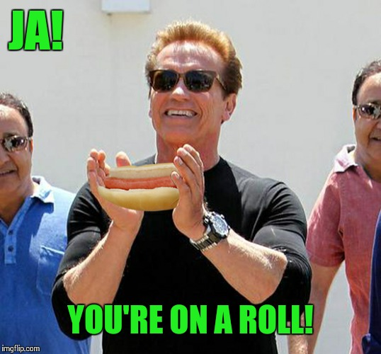 ja | JA! YOU'RE ON A ROLL! | image tagged in ja | made w/ Imgflip meme maker