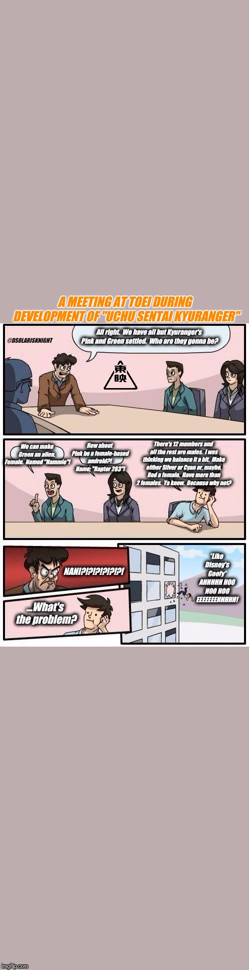 "UCHU SENTAI KYURANGER BOARDROOM MEETING | A MEETING AT TOEI DURING DEVELOPMENT OF ""UCHU SENTAI KYURANGER"" 