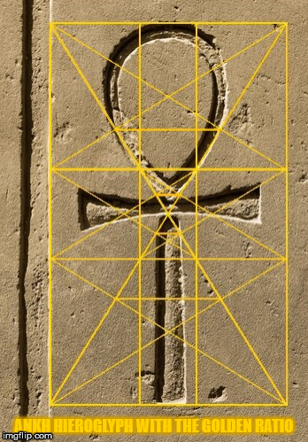 Ankh hieroglyph with the Golden Ratio. | ANKH HIEROGLYPH WITH THE GOLDEN RATIO | image tagged in ankh,egypt,the golden ratio,life,colors,hieroglyphics | made w/ Imgflip meme maker