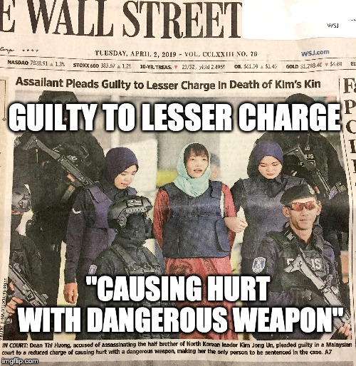 "Assassins plee | GUILTY TO LESSER CHARGE ""CAUSING HURT WITH DANGEROUS WEAPON"" 