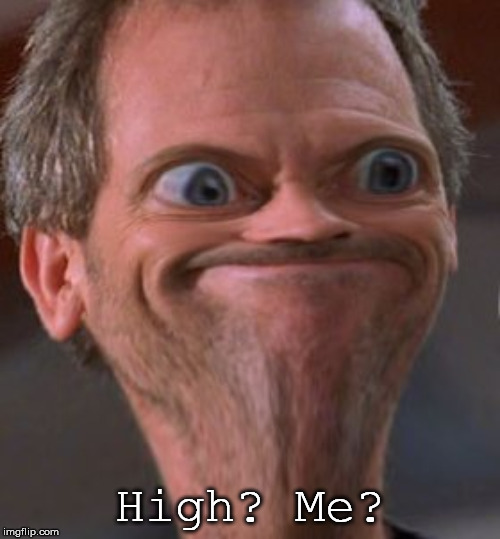 dis boi high | High? Me? | image tagged in x well ok then,high | made w/ Imgflip meme maker