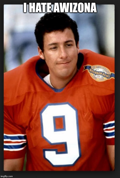 The waterboy | I HATE AWIZONA | image tagged in the waterboy | made w/ Imgflip meme maker