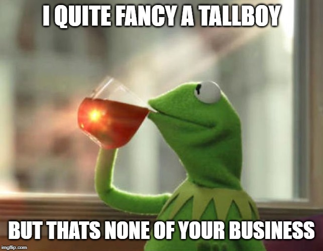 But Thats None Of My Business (Neutral) Meme | I QUITE FANCY A TALLBOY BUT THATS NONE OF YOUR BUSINESS | image tagged in memes,but thats none of my business neutral | made w/ Imgflip meme maker