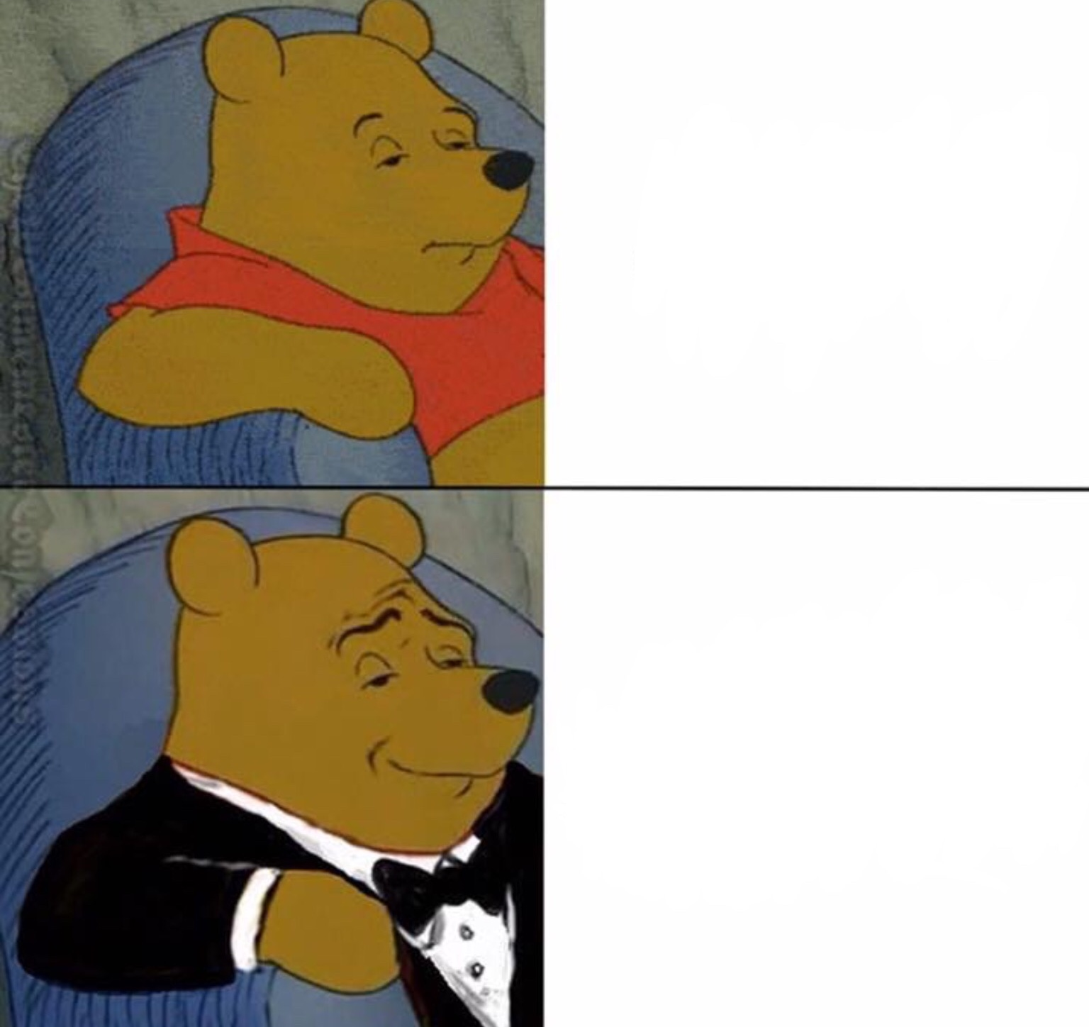 Winnie The Pooh Tux Blank Template - Imgflip