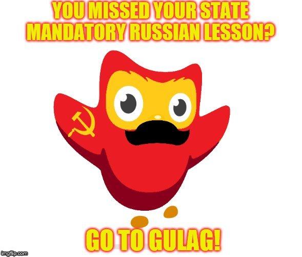 REUPLOADING YOUR OWN MEME? GO TO GULAG! | image tagged in memes,go to gulag,duolingo,stalin | made w/ Imgflip meme maker
