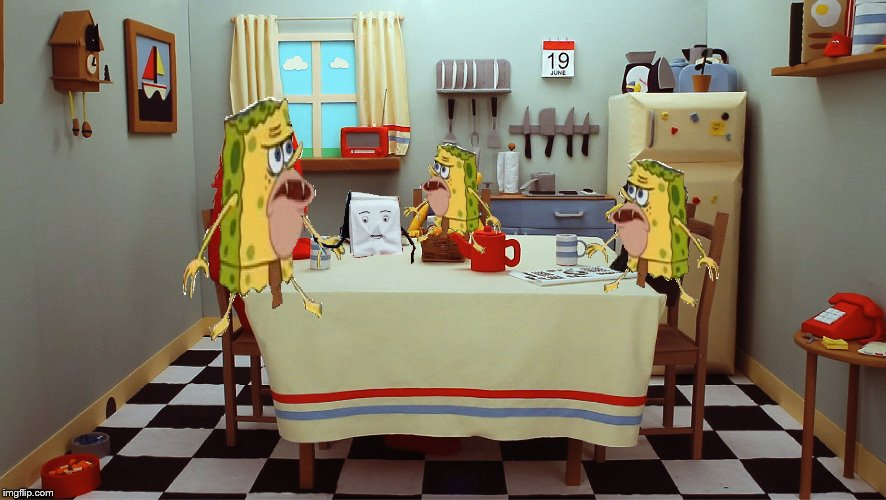 when you havin behfest wit ya broskis and the notebook starts talking | image tagged in spongegar | made w/ Imgflip meme maker