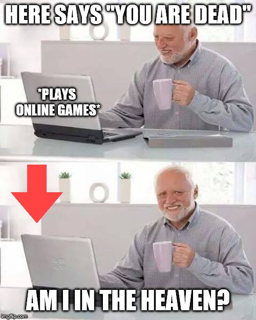 "Pain Harold plays online games |  HERE SAYS ""YOU ARE DEAD""; *PLAYS ONLINE GAMES*; AM I IN THE HEAVEN? 