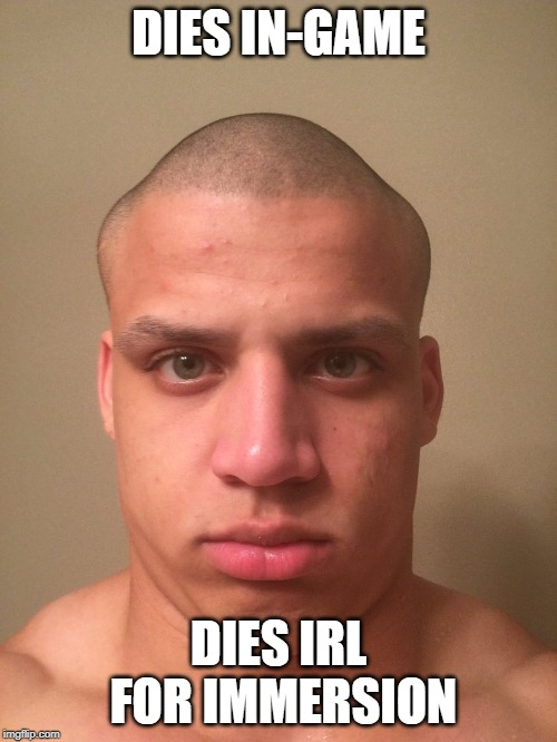 I miss Loltyler1's variety streams | DIES IN-GAME DIES IRL FOR IMMERSION | image tagged in twitch,loltyler1,streamer,noob,hard stuck d1,erobb's brother | made w/ Imgflip meme maker