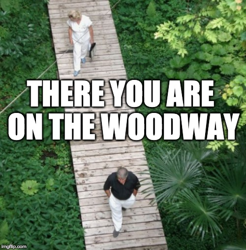THERE YOU ARE ON THE WOODWAY | made w/ Imgflip meme maker