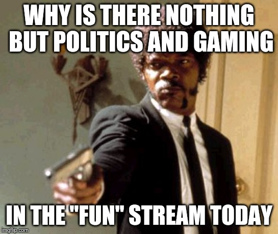"For Users who can't follow simple instructions | WHY IS THERE NOTHING BUT POLITICS AND GAMING IN THE ""FUN"" STREAM TODAY 