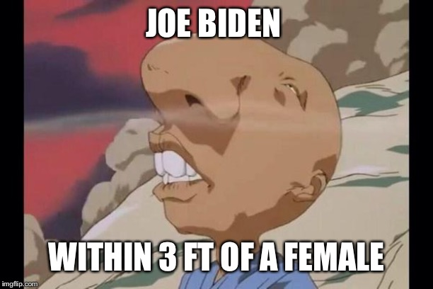 sniff | JOE BIDEN WITHIN 3 FT OF A FEMALE | image tagged in sniff | made w/ Imgflip meme maker
