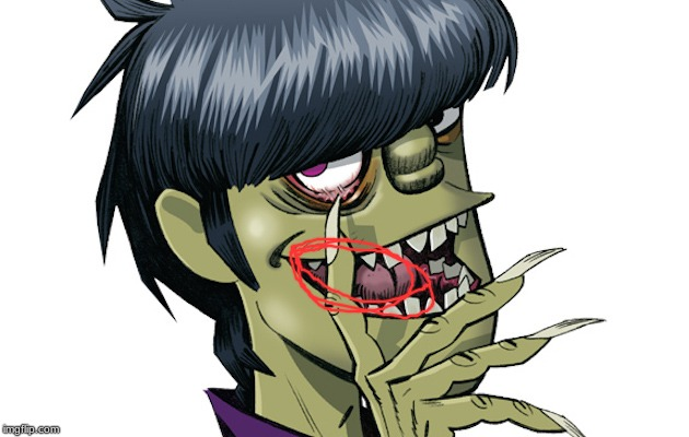 So are we going to ignore the fact that Murdoc's tongue is so long that he has to roll it up? | image tagged in memes,music,murdoc,gorillaz,2019,ok then | made w/ Imgflip meme maker