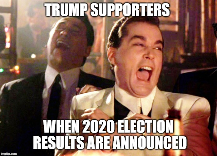Good Fellas Hilarious Meme | TRUMP SUPPORTERS WHEN 2020 ELECTION RESULTS ARE ANNOUNCED | image tagged in memes,good fellas hilarious | made w/ Imgflip meme maker