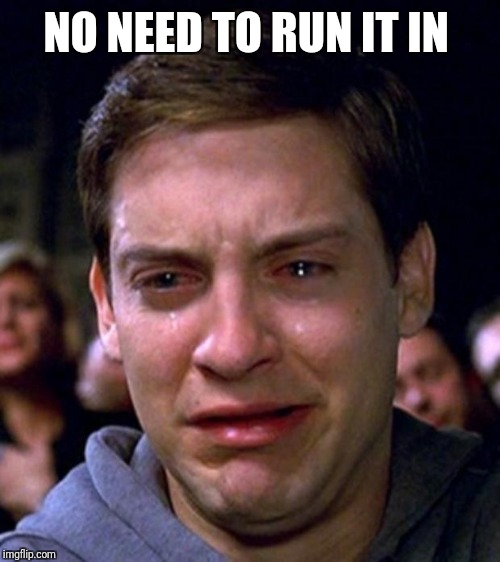 crying peter parker | NO NEED TO RUN IT IN | image tagged in crying peter parker | made w/ Imgflip meme maker