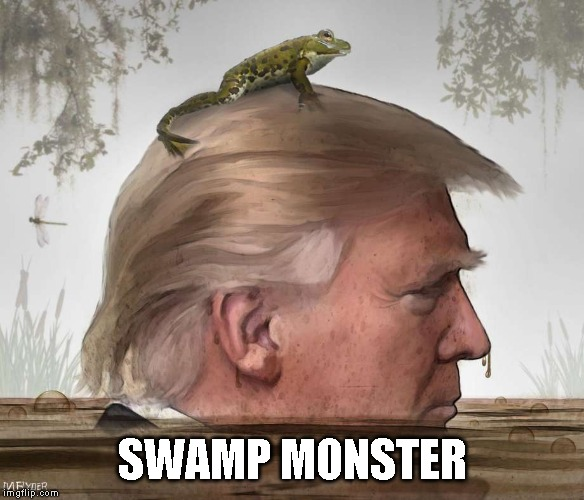 Come On In Corrupt Republicans - The Water is Fine | SWAMP MONSTER | image tagged in corruption,criminals,treason,impeach trump | made w/ Imgflip meme maker