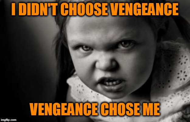 Tough Job, But Somebody's Got to Do It | I DIDN'T CHOOSE VENGEANCE VENGEANCE CHOSE ME | image tagged in alice malice,vengeance | made w/ Imgflip meme maker