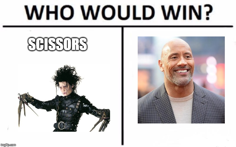 Who Would Win? Meme | SCISSORS | image tagged in memes,who would win | made w/ Imgflip meme maker