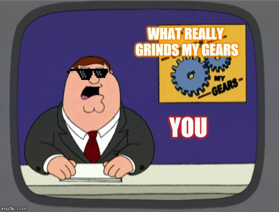 Peter Griffin News | WHAT REALLY GRINDS MY GEARS YOU | image tagged in memes,peter griffin news | made w/ Imgflip meme maker