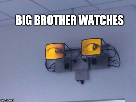 bb | BIG BROTHER WATCHES | image tagged in bb | made w/ Imgflip meme maker