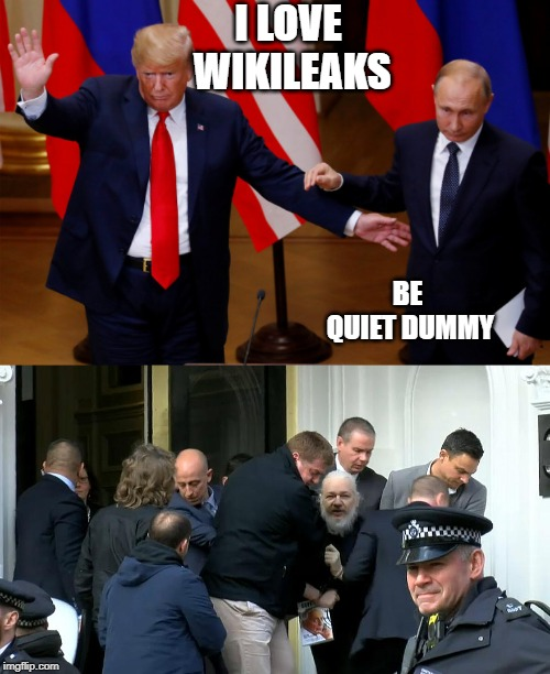 "Is it any wonder why he ""loves wikileaks""? 