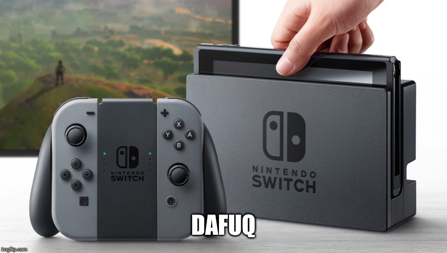 Nintendo Switch | DAFUQ | image tagged in nintendo switch | made w/ Imgflip meme maker