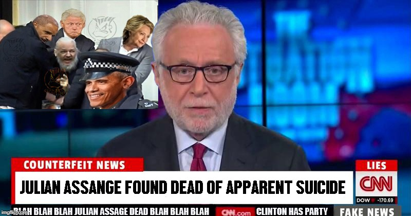 Fake News! Who knew this was going to happen? | image tagged in julian assange,hillary clinton,fake news,lol,funny | made w/ Imgflip meme maker