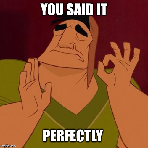 When X just right | YOU SAID IT PERFECTLY | image tagged in when x just right | made w/ Imgflip meme maker