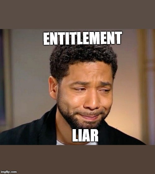 Jussie Smollet Crying | ENTITLEMENT LIAR | image tagged in jussie smollet crying | made w/ Imgflip meme maker