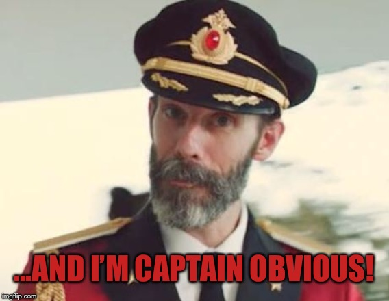 Captain Obvious | ...AND I'M CAPTAIN OBVIOUS! | image tagged in captain obvious | made w/ Imgflip meme maker