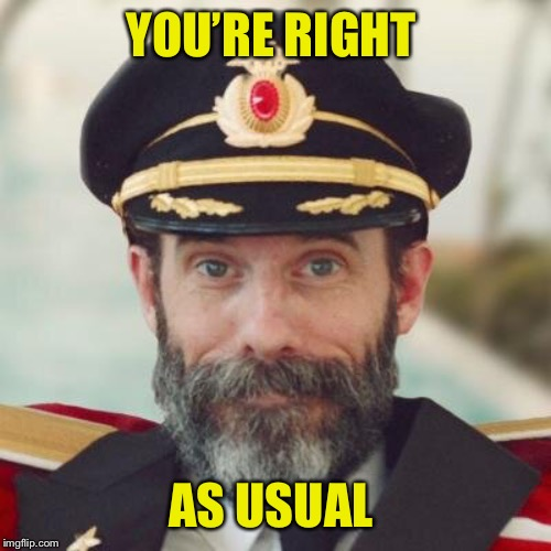 Captain Obvious | YOU'RE RIGHT AS USUAL | image tagged in captain obvious | made w/ Imgflip meme maker