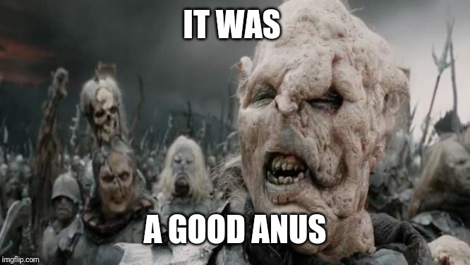 parliamentary orc | IT WAS A GOOD ANUS | image tagged in parliamentary orc | made w/ Imgflip meme maker